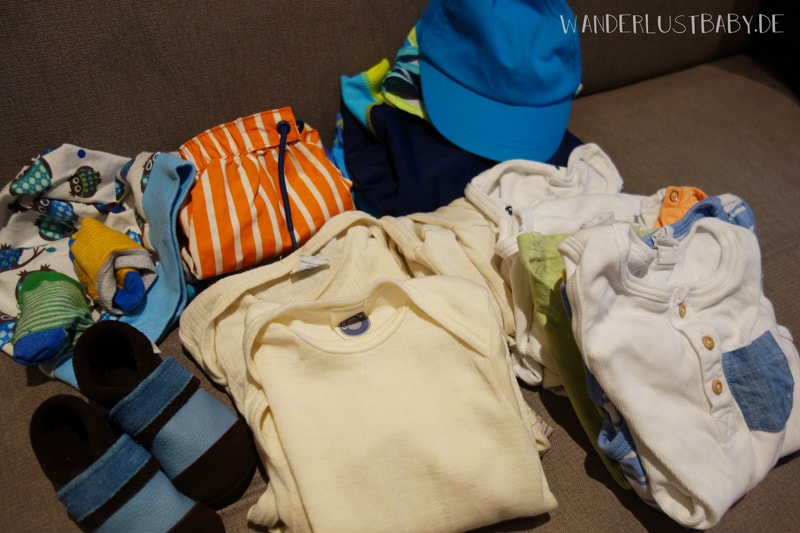 Kleidung für Reise