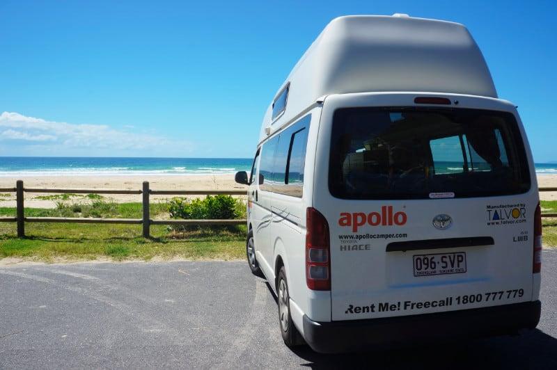 Wohnmobil reisen am Strand