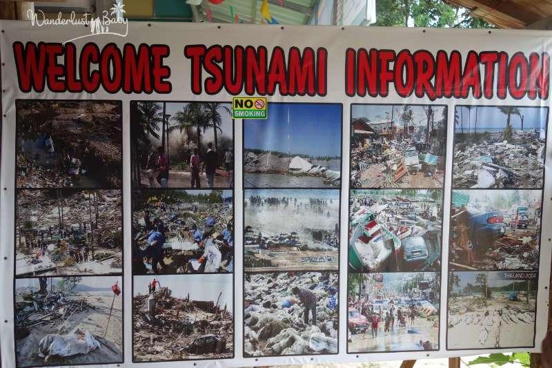Tsunami Khao Lak Infotafel