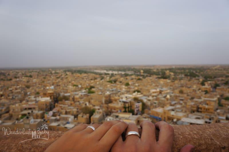 Blick über Jaisalmer Indien