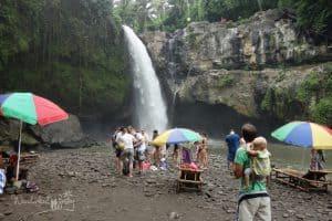 Bali mit Kindern Wasserfall 2