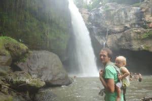 Bali mit Kindern Wasserfall