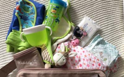 Ich packe meine Wickeltasche und nehme mit…