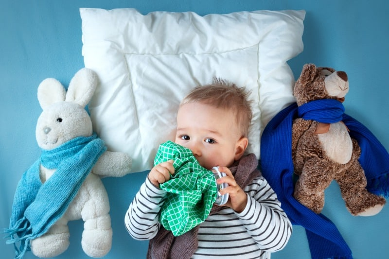 Schnupfen Baby Kleinkind