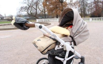 Kuschelig warmer Fußsack – Wir machen den Kinderwagen winterfest!