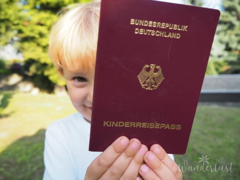 Kinderreisepass beantragen
