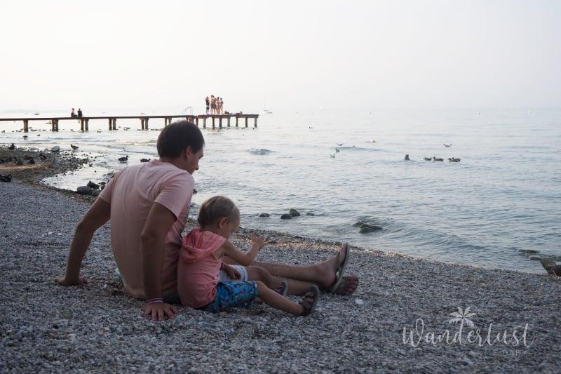 Familie am Gardasee
